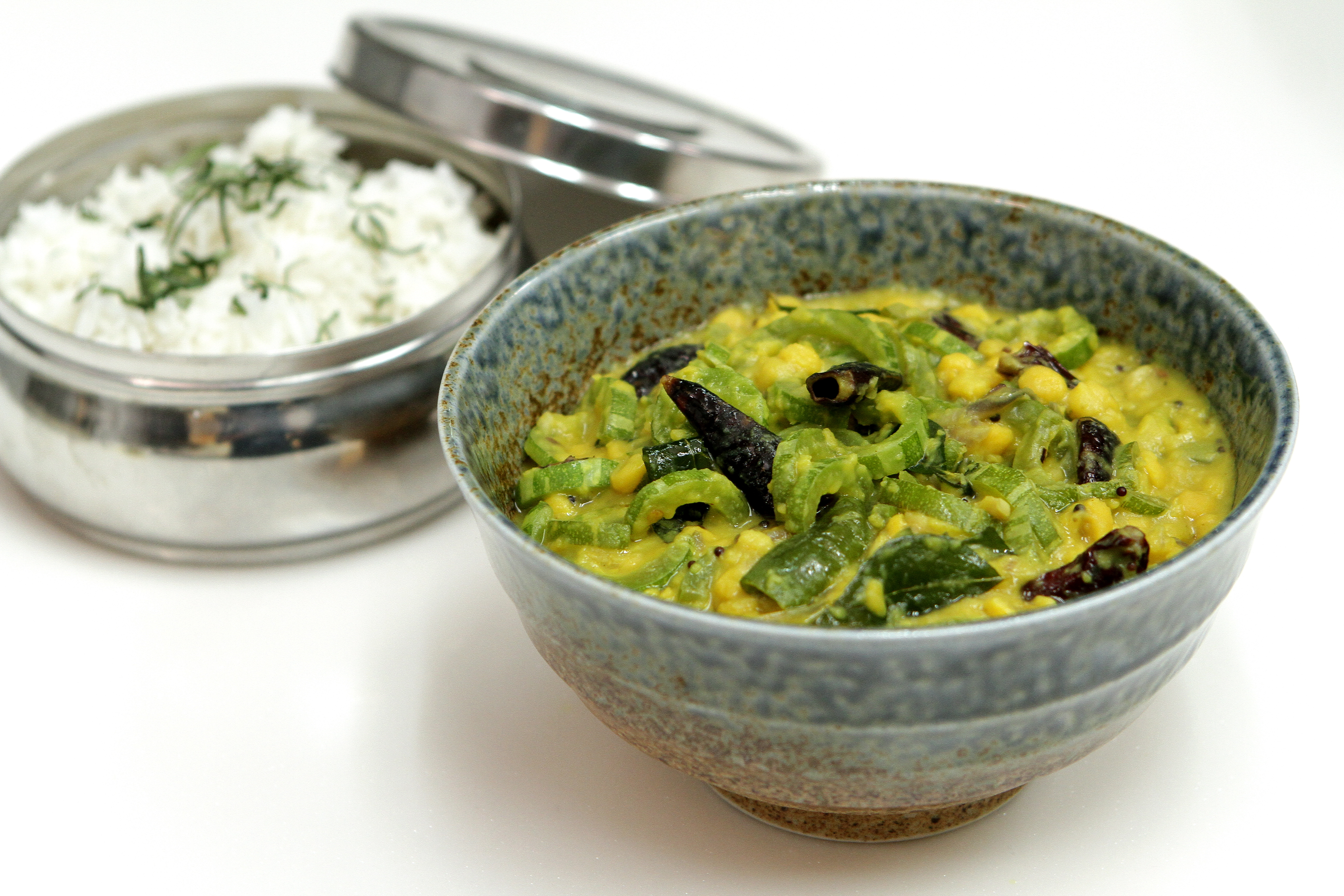 Podalangai Kootu Snake gourd with lentils