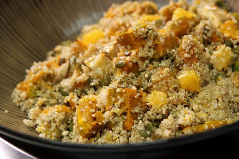 Roast pumpkin salad with quinoa
