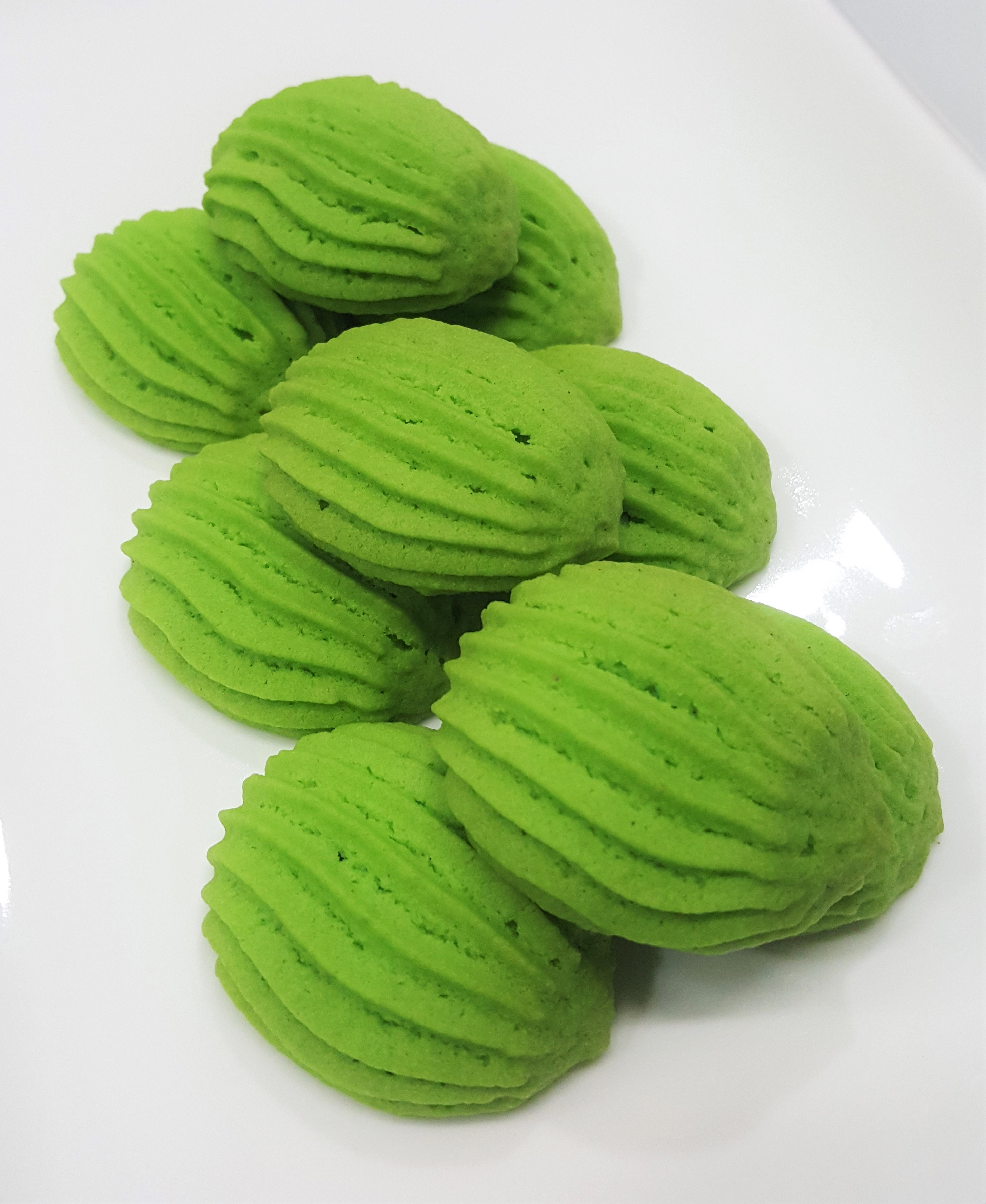 Pandan Butter Cookies