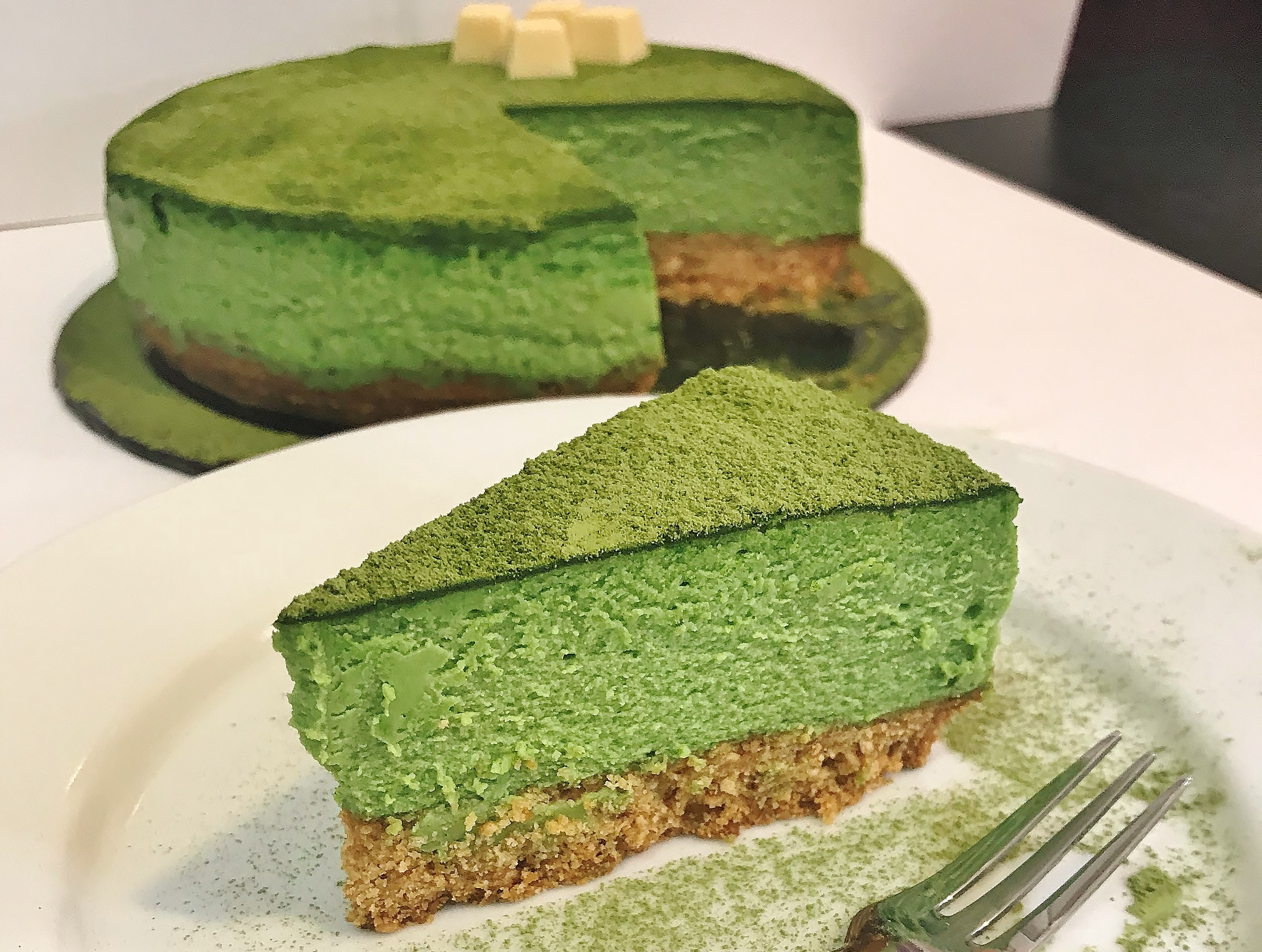 Green Tea Bake Cheese Cake