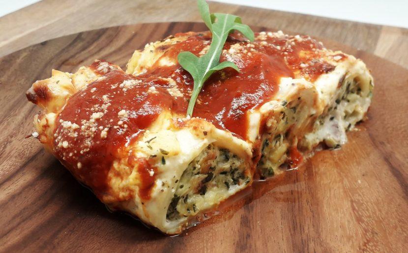 Chicken & Spinach Cannelloni