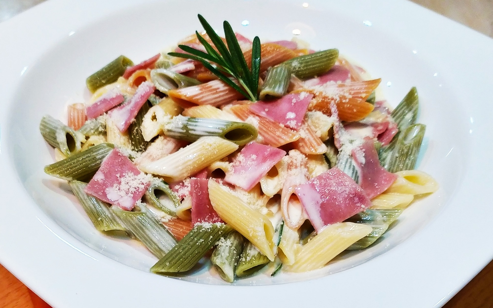 Creamy Rosemary & Turkey Ham Penne