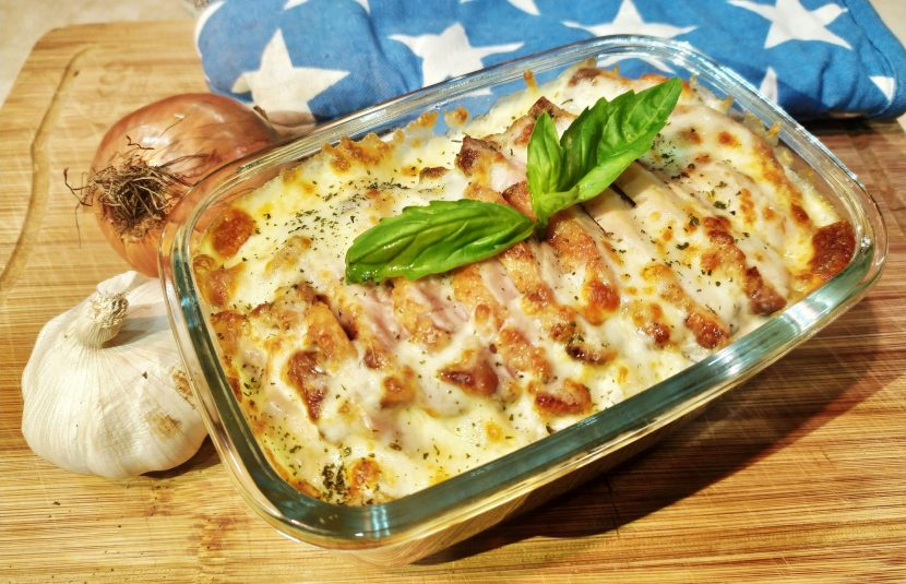 Grill Chicken with Swiss Mushroom & Butter Baked Rice