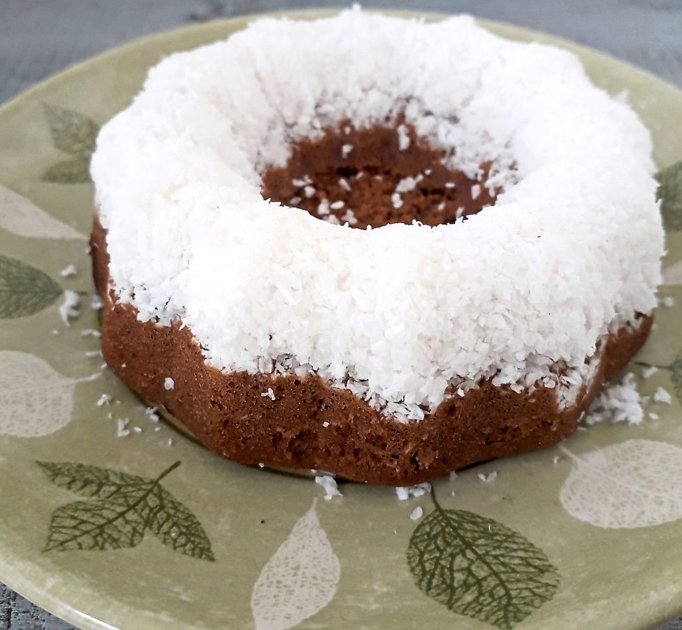 Steamed coffee & coconut sponge