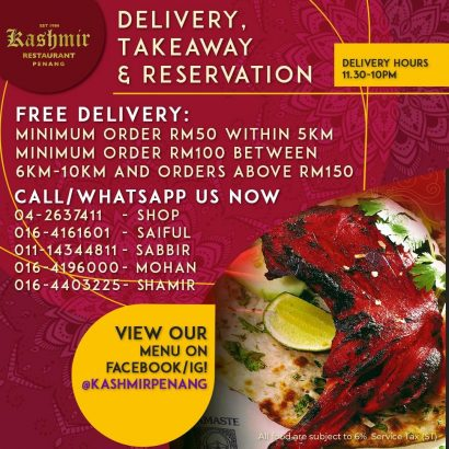 Kashmir Restaurant Penang