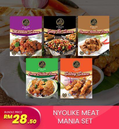 [Combo] Nyolike Meat Mania Sets (5 packs Bundle)