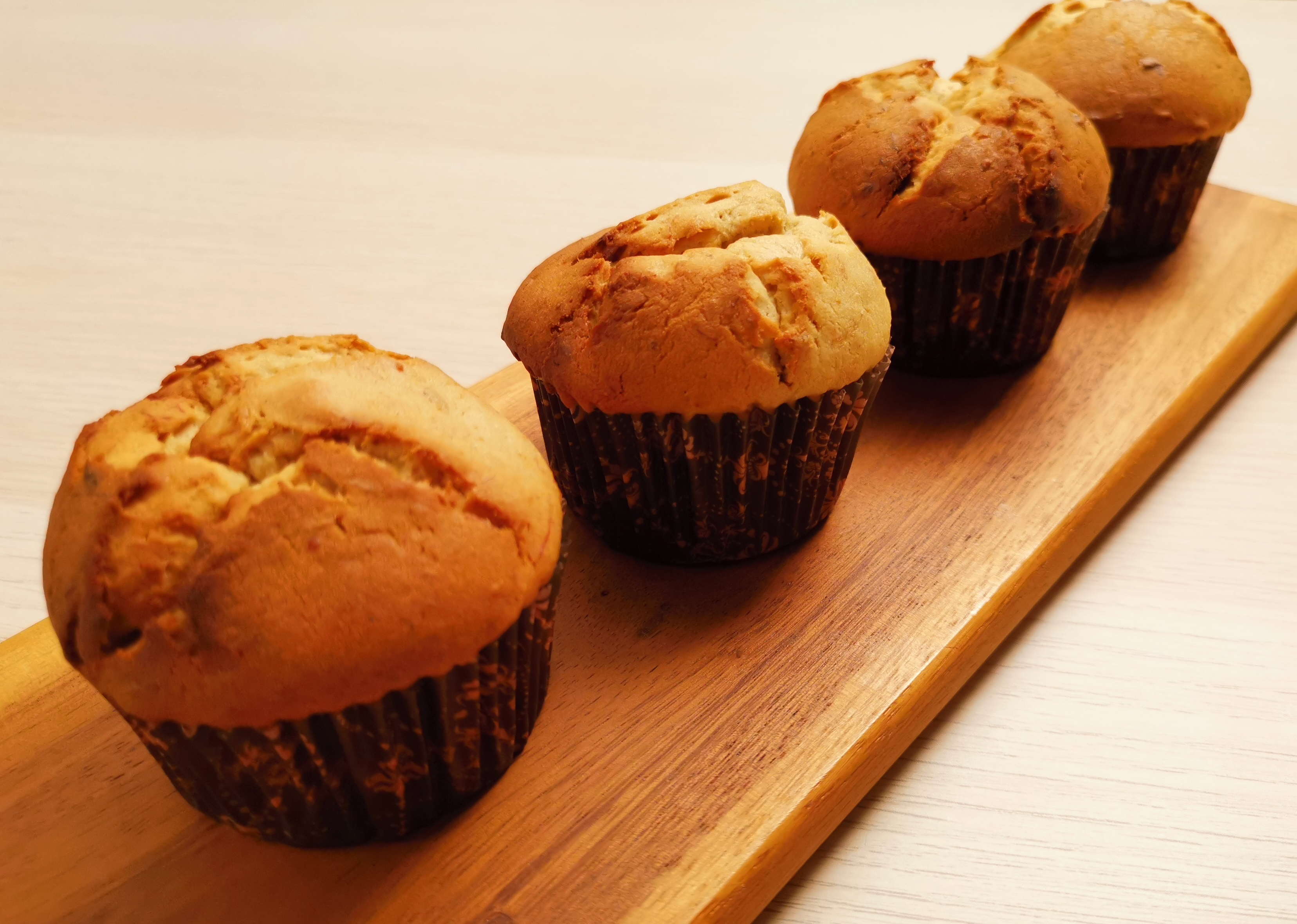 Banana Cheese Muffins
