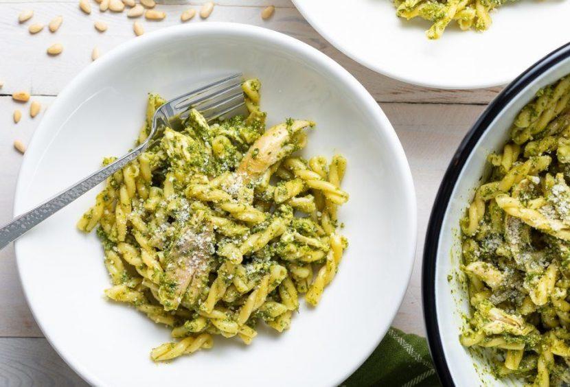 Basil Pesto Chicken Pasta Salad