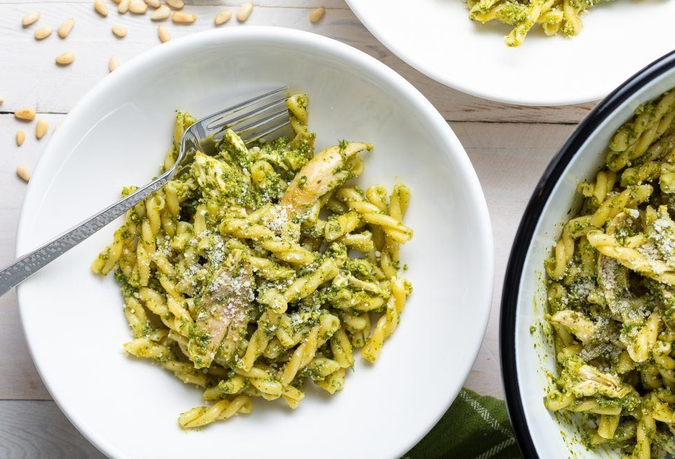 Basil Pesto Chicken Pasta Salad