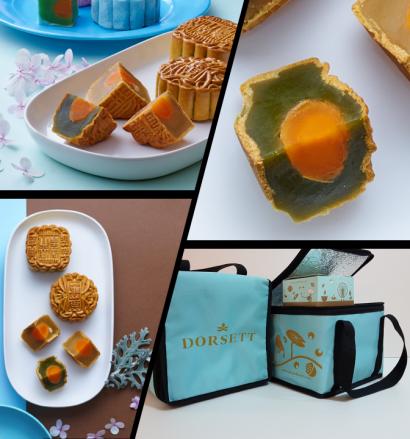 Dorsett Grand Subang's Pandan Lotus Paste with Single Egg Yolk (Self Pick Up)