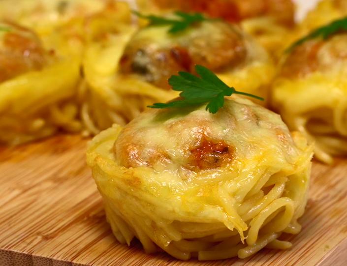3 Ways Baked Mini Spaghetti
