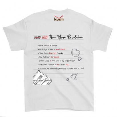 Kuali Cotton T-Shirt – 2021 Resolutions (back printing) – Design B2