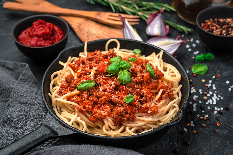Classic Italian dish pasta bolognese