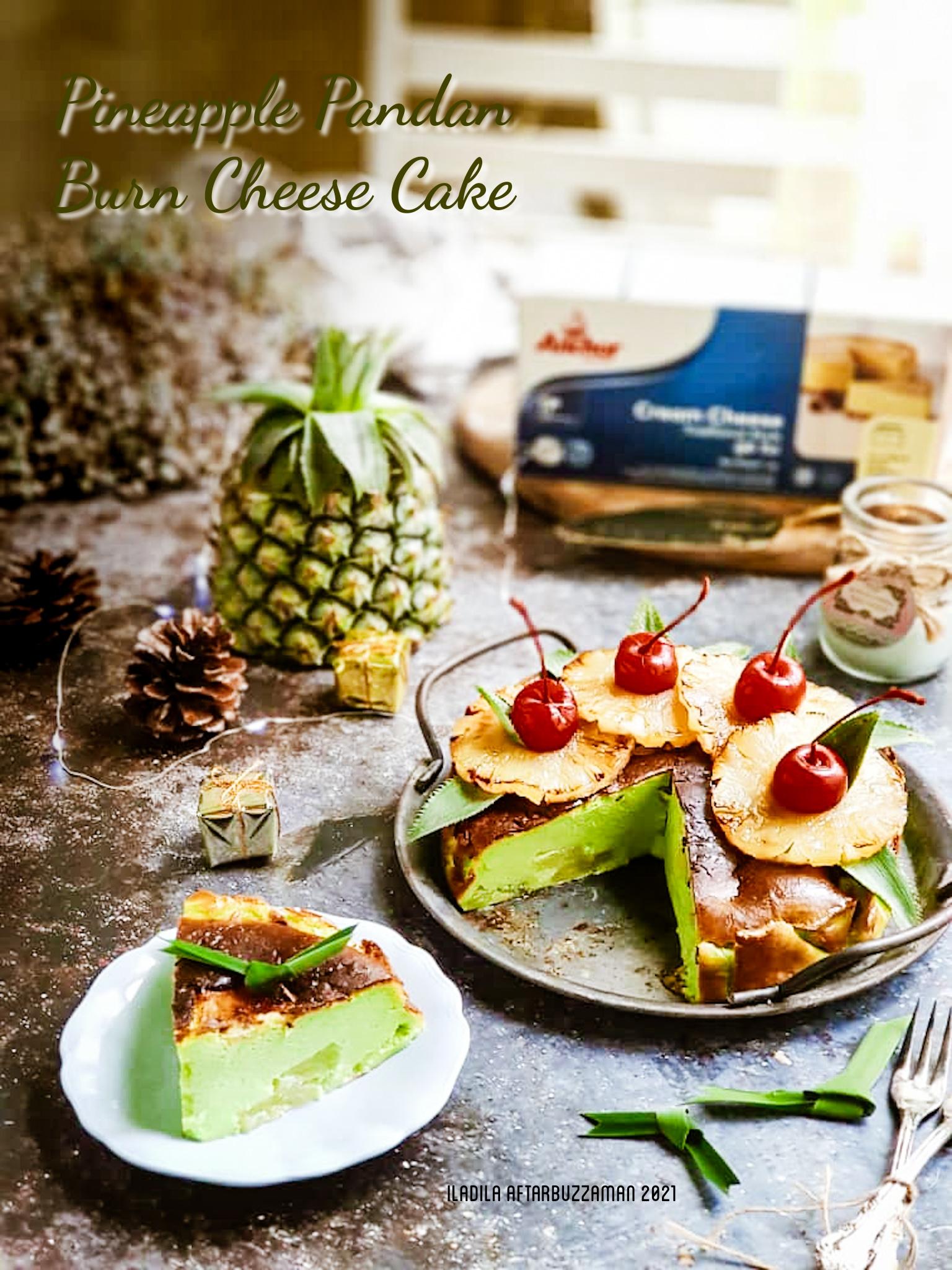 Pineapple Pandan Burnt Cheese Cake