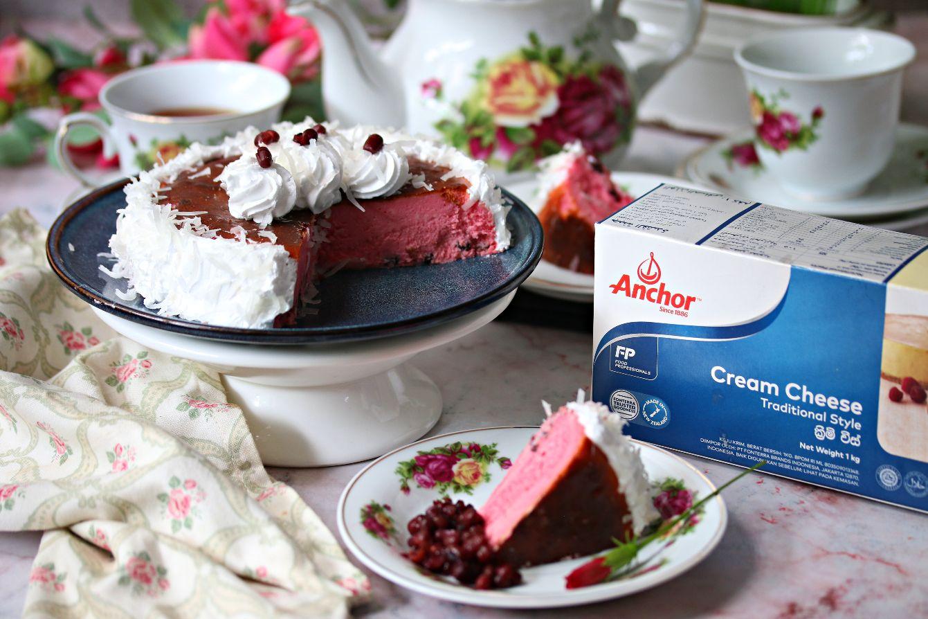 Red Bean Syrup Bandung Burnt Cheesecake