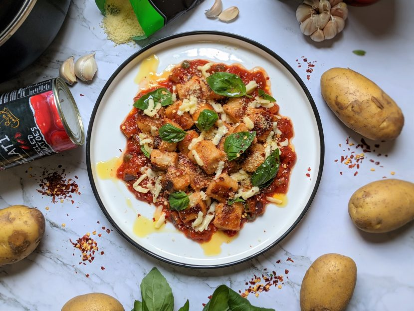 arrabbiata gnocchi with mozzarella
